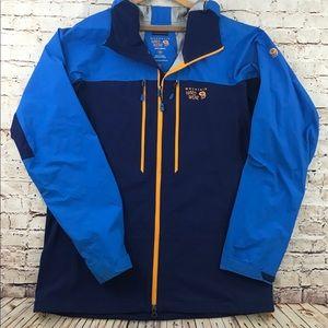 MOUNTAIN HARDWEAR Dry.Q Elite Blue Jacket Sz LG